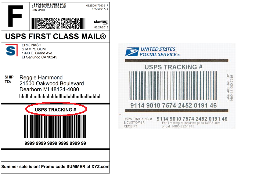 Delivery Confirmation is now called USPS Tracking - Stamps