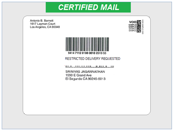 Version 105 New USPS Rate Shopping Engine Certified Mail