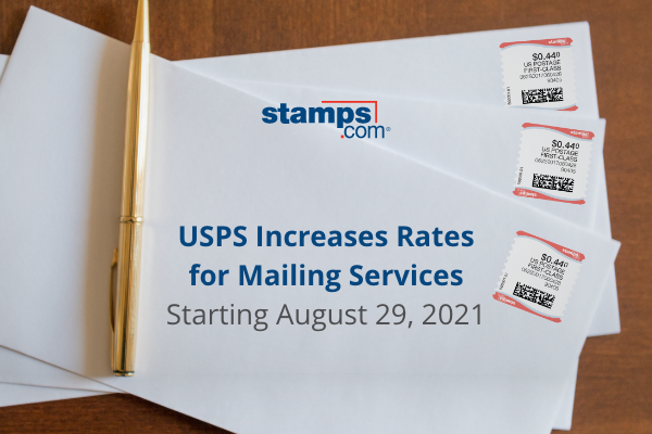 August 2021 USPS Price Increase